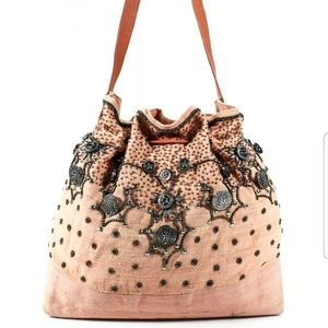 Monya Vintage Beaded Hobo Bag